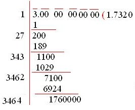 Square Root of Numbers that are Not Perfect Squares 2